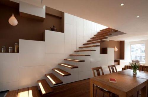 Тенденция в дизайне: Плавающие лестницы